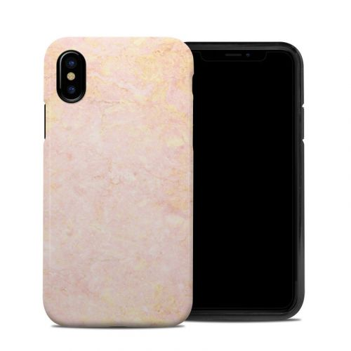 Rose Gold Marble iPhone XS Hybrid Case