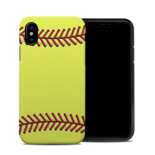 Softball iPhone XS Hybrid Case