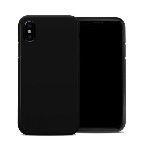 Solid State Black iPhone XS Hybrid Case