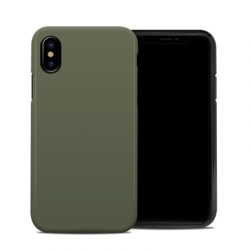 Solid State Olive Drab iPhone XS Hybrid Case