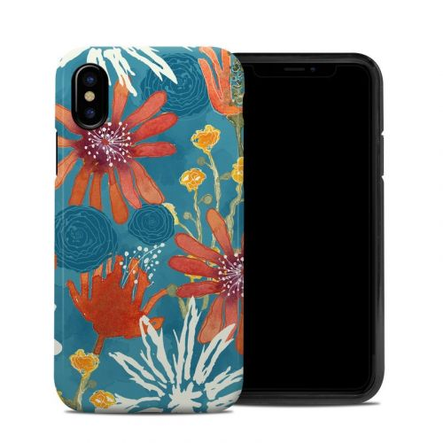 Sunbaked Blooms iPhone X Hybrid Case
