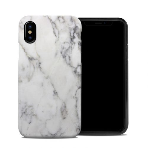 White Marble iPhone XS Hybrid Case