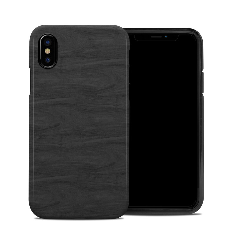 Black Woodgrain iPhone X Hybrid Case