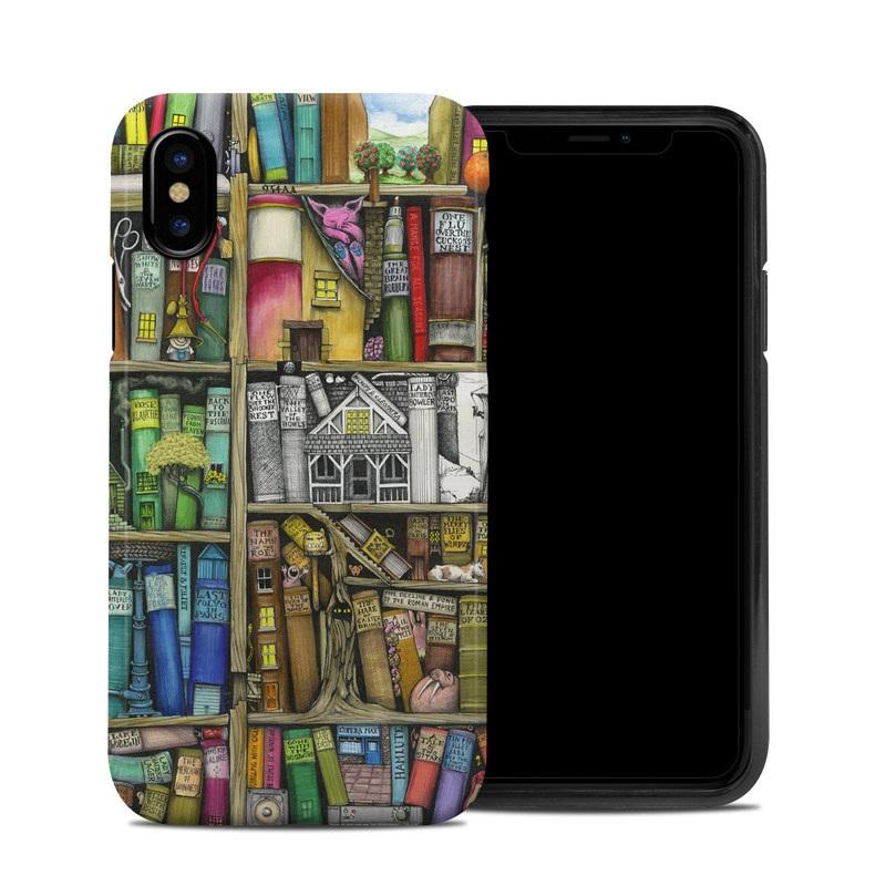 Bookshelf iPhone X Hybrid Case