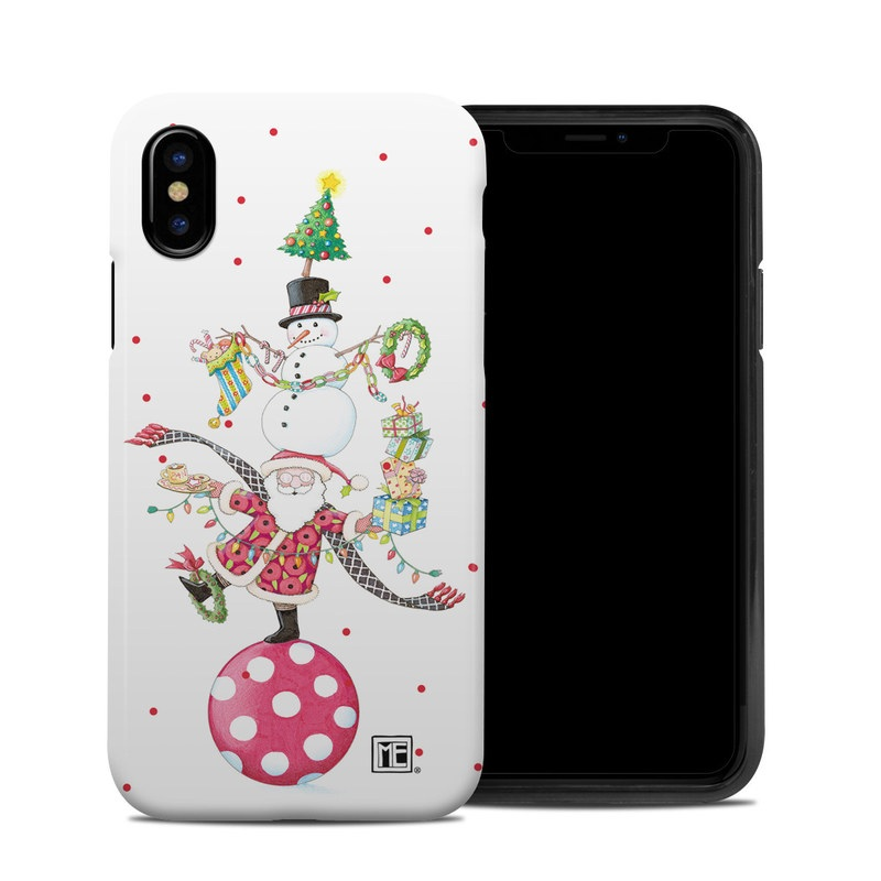 iPhone XS Hybrid Case design of Clip art, Holiday ornament, Fictional character with white, red, green, black, blue colors