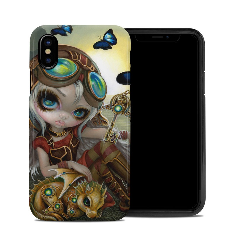 Clockwork Dragonling iPhone XS Hybrid Case