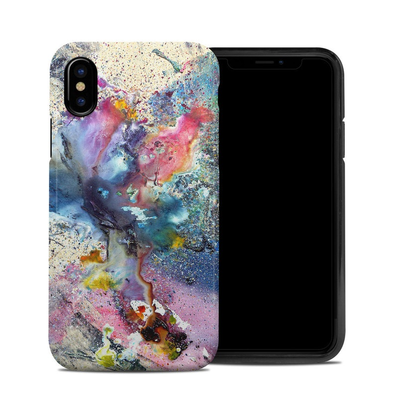 Cosmic Flower iPhone XS Hybrid Case