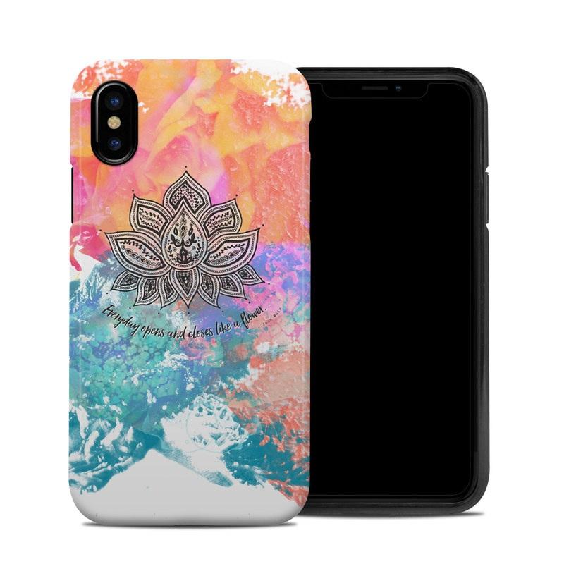 Happy Lotus iPhone XS Hybrid Case