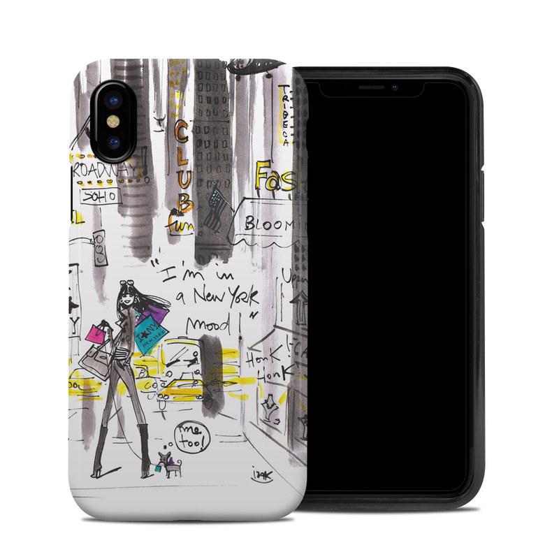 My New York Mood iPhone X Hybrid Case