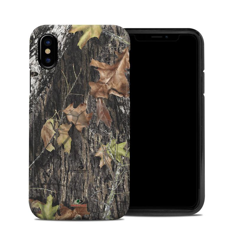iPhone XS Hybrid Case design of Leaf, Tree, Plant, Adaptation, Camouflage, Branch, Wildlife, Trunk, Root with black, gray, green, red colors