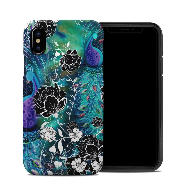 Peacock Garden iPhone X Hybrid Case