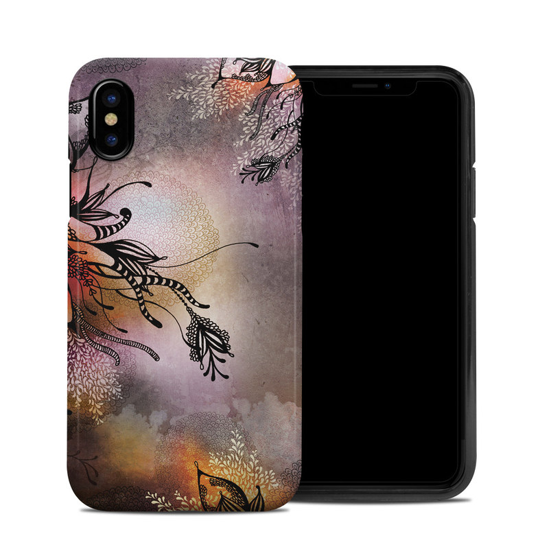 iPhone XS Hybrid Case design of Illustration, Graphic design, Cg artwork, Art, Fictional character, Graphics, Visual arts, Darkness with black, gray, red, green, purple colors