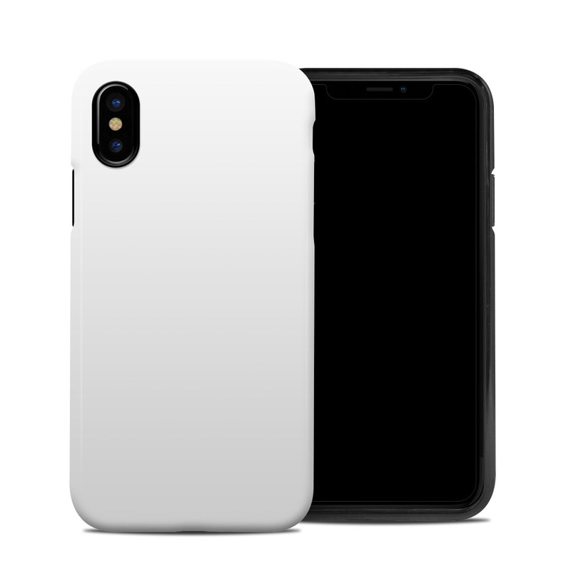 iPhone XS Hybrid Case design of White, Black, Line with white colors