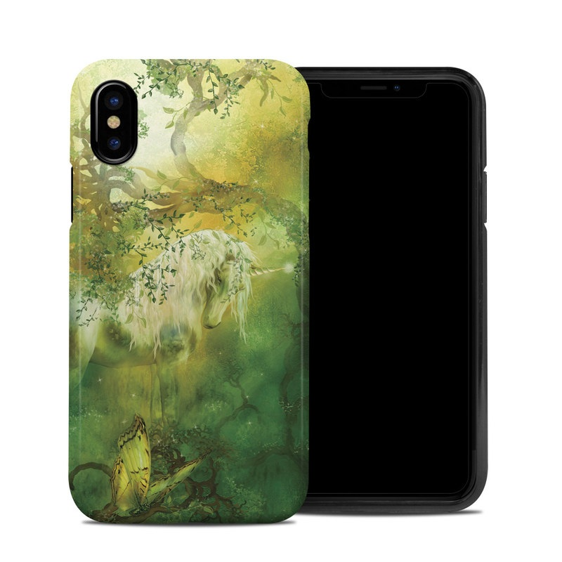 iPhone XS Hybrid Case design of Nature, Green, Painting, Art, Visual arts, Watercolor paint, Illustration, Modern art, Still life with green, black, gray colors