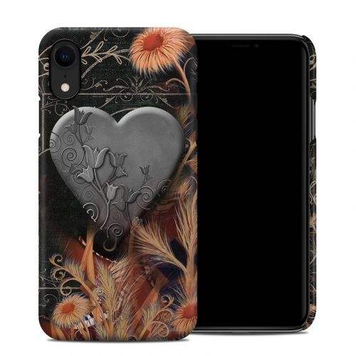 Black Lace Flower iPhone XR Clip Case