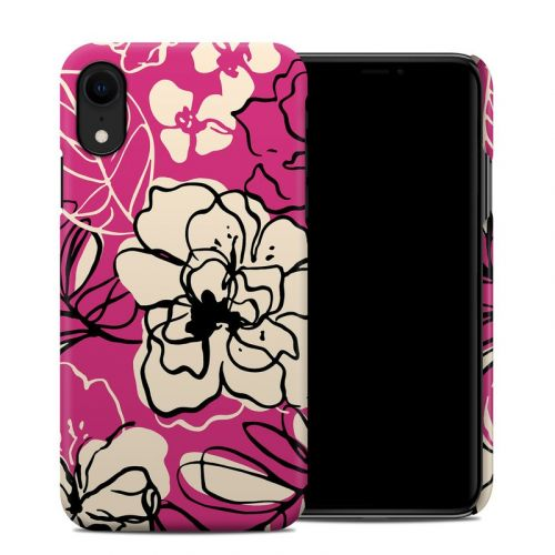 Black Lily iPhone XR Clip Case