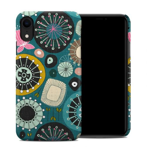 Blooms Teal iPhone XR Clip Case