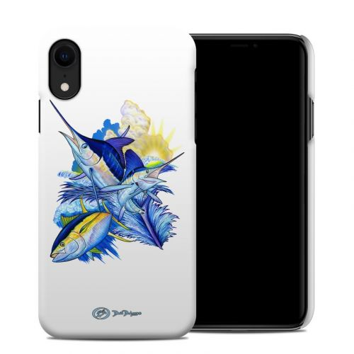 Blue White and Yellow iPhone XR Clip Case