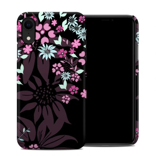 Dark Flowers iPhone XR Clip Case