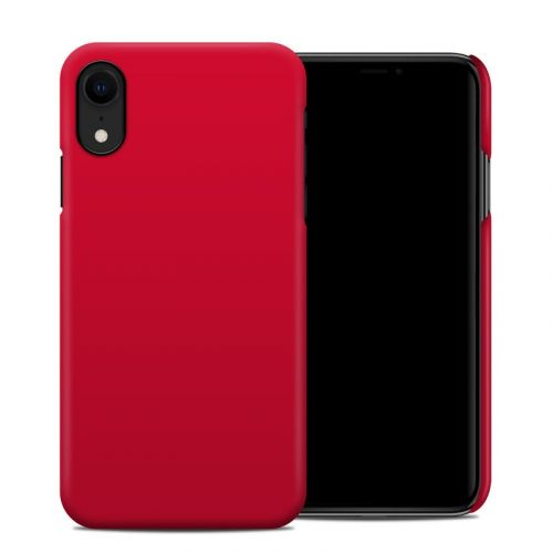 Solid State Red iPhone XR Clip Case