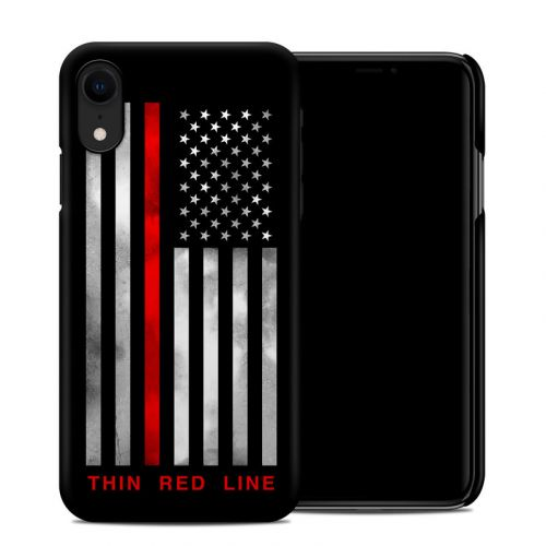 Thin Red Line iPhone XR Clip Case