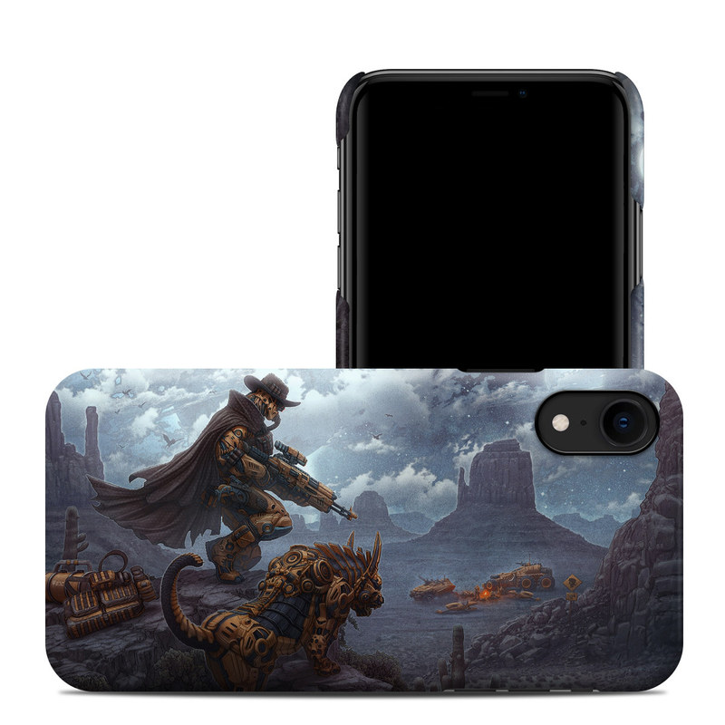 iPhone XR Clip Case design of Action-adventure game, Cg artwork, Adventure game, Games, Mythology, Strategy video game, Pc game, Sky, Fictional character, Massively multiplayer online role-playing game with blue, yellow, gray, white, black colors