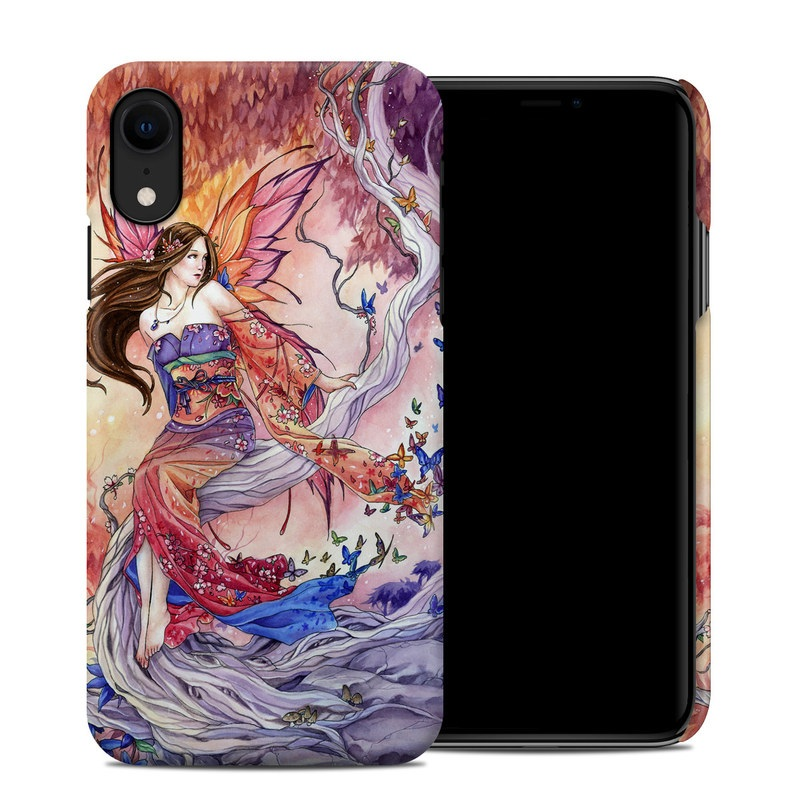 iPhone XR Clip Case design of Cg artwork, Illustration, Fictional character, Cartoon, Anime, Long hair, Art, Mythology, Supernatural creature, Mythical creature with gray, red, pink, black, green, purple colors