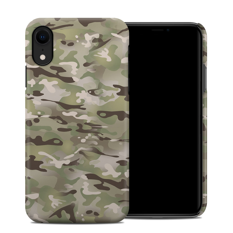 iPhone XR Clip Case design of Military camouflage, Camouflage, Pattern, Clothing, Uniform, Design, Military uniform, Bed sheet with gray, green, black, red colors