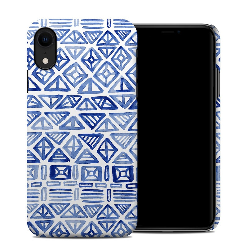 iPhone XR Clip Case design of Pattern, Line, Design, Symmetry, Visual arts, Parallel with white, blue colors