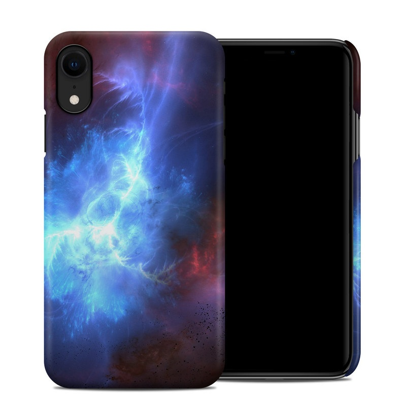 Apple iPhone XR Clip Case design of Sky, Atmosphere, Outer space, Space, Astronomical object, Fractal art, Universe, Electric blue, Art, Organism with black, blue, purple colors