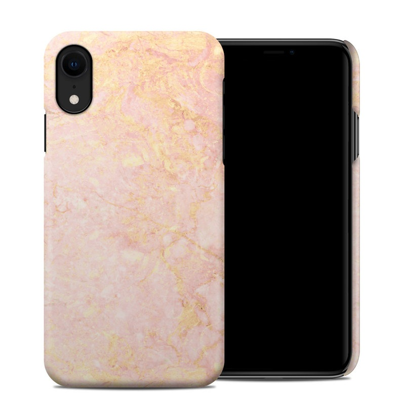 Rose Gold Marble Iphone Xr Clip Case