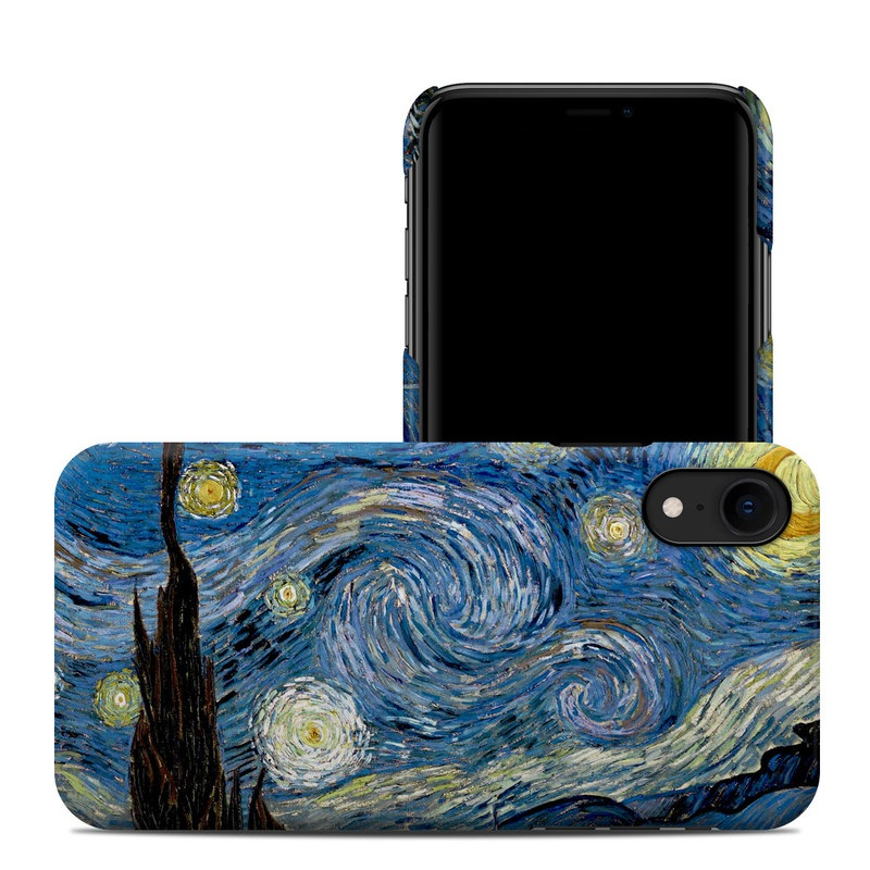 iPhone XR Clip Case design of Painting, Purple, Art, Tree, Illustration, Organism, Watercolor paint, Space, Modern art, Plant with gray, black, blue, green colors