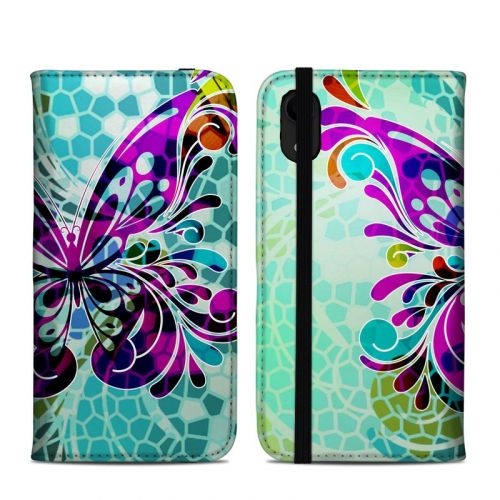 Butterfly Glass iPhone XR Folio Case