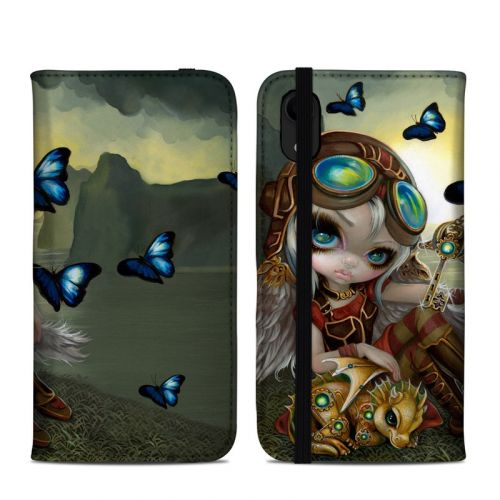 Clockwork Dragonling iPhone XR Folio Case