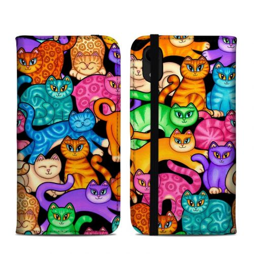 Colorful Kittens iPhone XR Folio Case