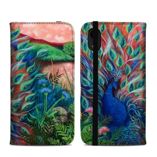 Coral Peacock iPhone XR Folio Case