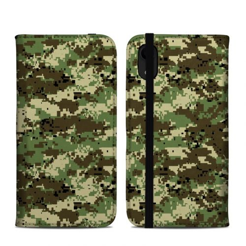 Digital Woodland Camo iPhone XR Folio Case