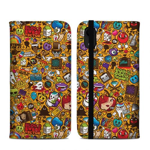 Psychedelic iPhone XR Folio Case