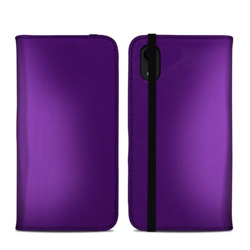 Purple Burst iPhone XR Folio Case