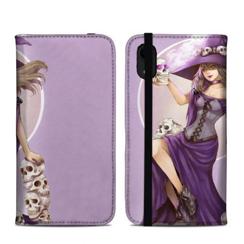 Skull Witch iPhone XR Folio Case