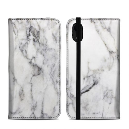 White Marble iPhone XR Folio Case