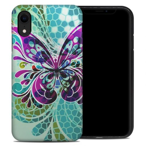 Butterfly Glass iPhone XR Hybrid Case