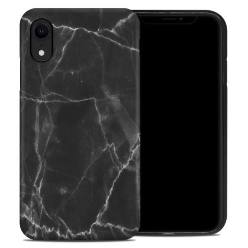 Black Marble iPhone XR Hybrid Case