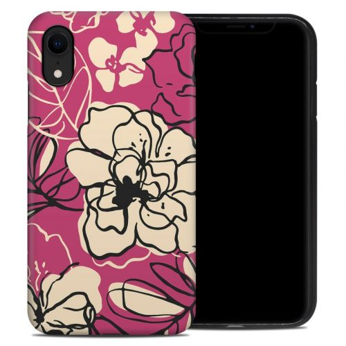 Black Lily iPhone XR Hybrid Case