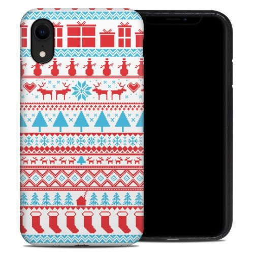 Comfy Christmas iPhone XR Hybrid Case