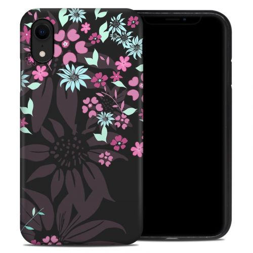 Dark Flowers iPhone XR Hybrid Case