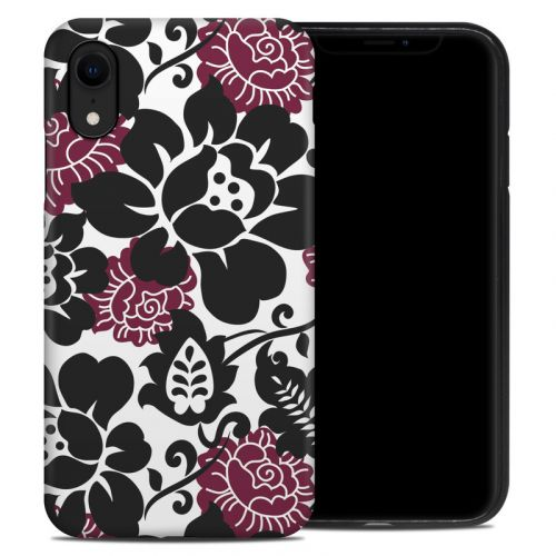Rose Noir iPhone XR Hybrid Case