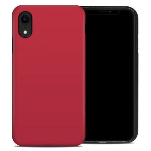 Solid State Red iPhone XR Hybrid Case