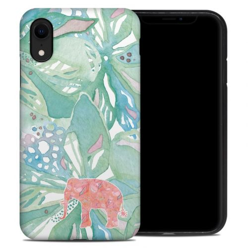 Tropical Elephant iPhone XR Hybrid Case
