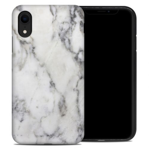 White Marble iPhone XR Hybrid Case